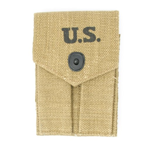 U.S. WWII .45cal Double Magazine Pouch