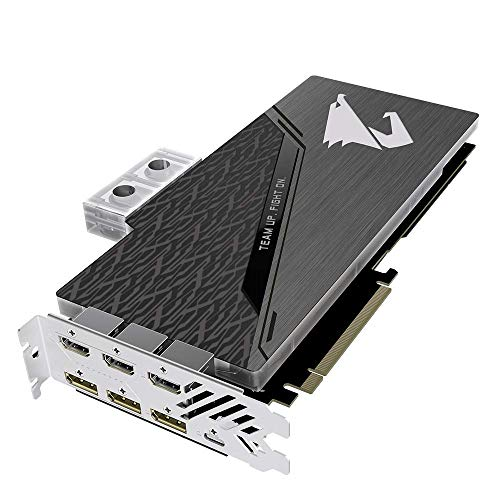 GIGABYTE GeForce 2080 WATERFORCE 8G GDDR6 1.4 HDMI with Cooling System RGB Fusion Graphic GV-N2080AORUS WB-8GC