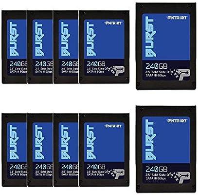 Patriot Memory Burst Disco sólido Interno de 240 GB, SATA III SSD ...