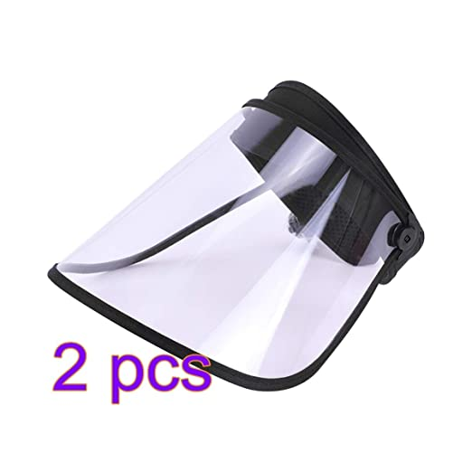 Exceart 2pcs Full Face Shield Safety Face Shield Anti Splash and Saliva Full Face Protective Visor Face Eye Protection for Women Men Kids Outdoor