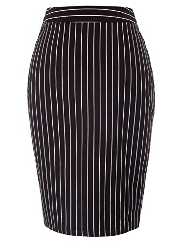 Kate Kasin Womens Large Pencil Skirt High Waisted Pencil Skirt,Black Size 2XL - Wear High Waisted Pencil Skirt