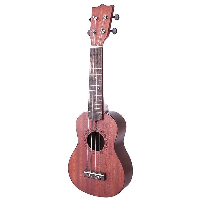 Yvsoo Guitarra Juguete para Niños Ukelele 4 Cuerdas Guitarra Infantil Instrumentos Musicales Educativos Simulación Juguete Regalo para Principiantes (A): ...