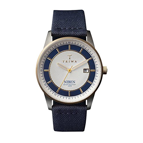 Triwa Unisex NIST104 Duke Niben Classic Watch with Navy / Navy Canvas and Organic Leather Strap by Triwa