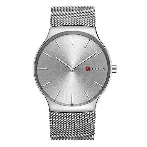 CURREN Men Waterproof Watches Stainless Steel Band Quartz watch Top Brand Business Male Wristwatch 8256