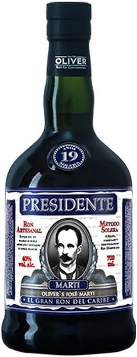 Presidente Marti 19 Años de Edad Ron Oscuro - 700 ml: Amazon ...