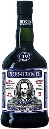Presidente Marti 19 Años de Edad Ron Oscuro - 700 ml ...
