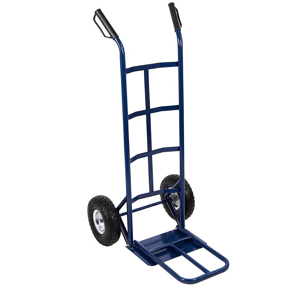 Foldable Hand Sack Truck Trolley, Industrial Heavy Duty Durable Steel Frame and Two Non-slip Wheels Truck Cart WAF