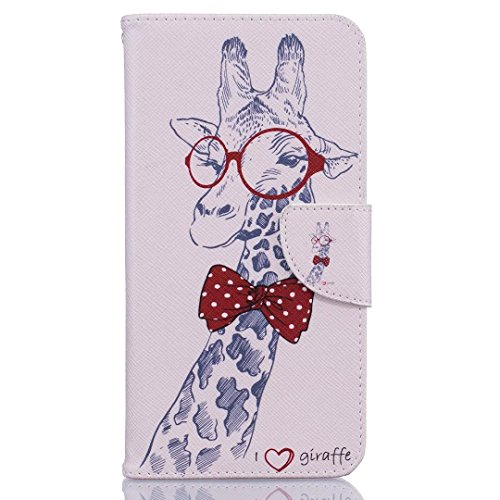 Hovisi Stent Flip Leather Case Cover Leather Wallet Case for iPhone 7 Plus (5.5