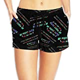 My People Skills Are Fine Women's Quick Dry Beach Shorts Fashion Lightweight Surf Shorts With Pockets