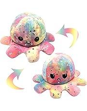 Octopus Knuffeldier, omkeerbaar, oktupus, sfeerknuffeldier, flip pluche, octopus-omkeerbaar, speelgoed voor kinderen en volwassenen, als verjaardagscadeau