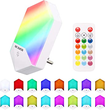 AUOPLUS Multi-Colores LED Luz Nocturna Infantil,L/ámpara Quitamieda de pared para Ni/ños con Sensor Crepuscular,Control T/áctil,luz de Ambiente para Habitaci/ón Beb/é,Dormitorio,Sala,Garaje,Ba/ño,Pasillos