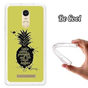 BeCool - Funda Gel Flexible Xiaomi Redmi Note 3 Taste Crazy Pineapple Carcasa Case Silicona TPU Suave