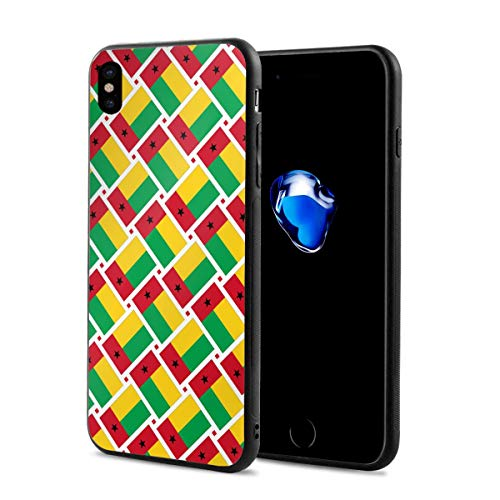 iPhone X Case Guinea-Bissau Flag Weave Lightweight Anti-Fingerprint Fashion Cases Covers Compatible with iPhone X