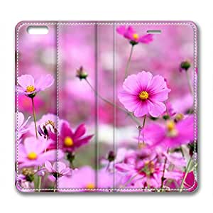 Beautiful Purple Flowers DIY Leather iphone 6 Case Perfect By Custom Service