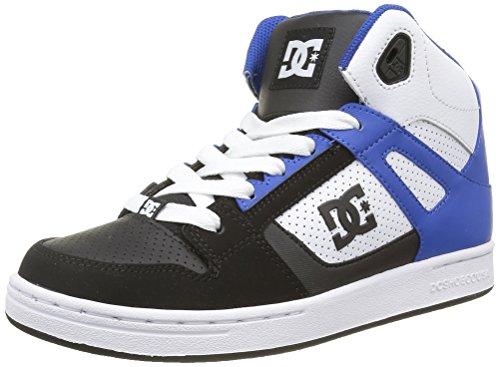 DC Shoes Rebound, Zapatillas Altas para Niños Negro (Black / White / Blue)