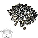 Lot of 50 3/8'' Inside Diameter Rubber Grommet - 1/8'' GW - Fits 1/2'' Hole