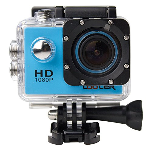 KIPTOP-12MP-HD-1080P-Wide-Angle-Lens-Blue-Underwater-Waterproof-Camera-Sports-Action-Bicycle-Helmet-Recorder-Free-StandsMountsCasing
