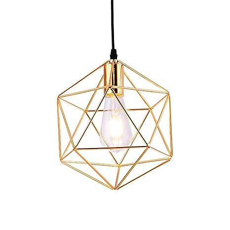 Iluminación colgante Estilo moderno galvanizado patrón geométrico ...