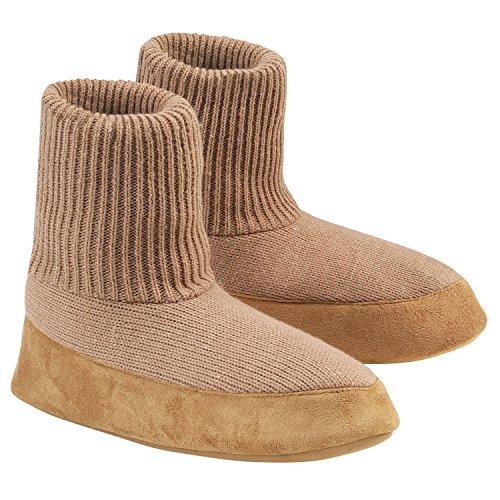 Cardigan Warm Comfortable Slipper Sock, Mens Large