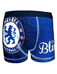 Chelsea Football Club Official Soccer Gift 1 Pk Boys Boxer Shorts Blue 11-12 Yrs