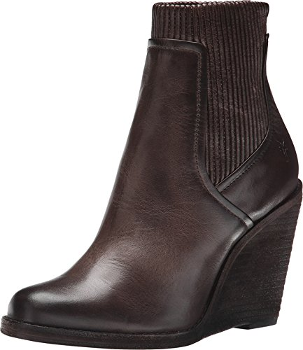 FRYE Women's Carrie Scrunch Back Zip Boot,  Slate, 8 M US
