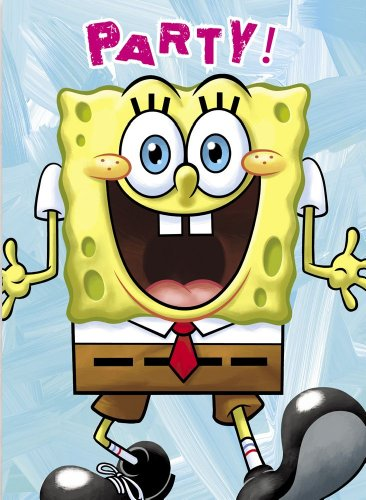 SpongeBob SquarePants Invitations, 8ct (Spongebob Birthday Party Invitations)