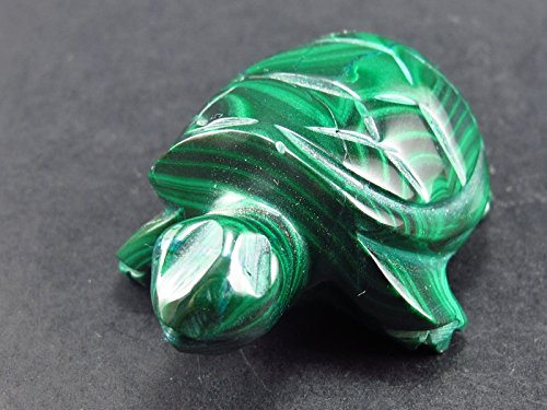 Beautiful Malachite Turtle Carving From Congo - 2.2
