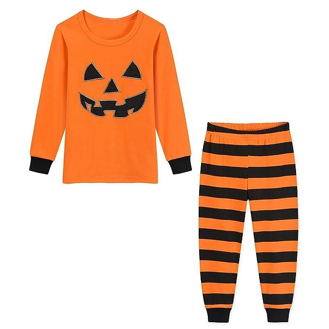 Lenfesh Halloween Niños Niños Niños Ropa de bebé Naranja Calabaza ...