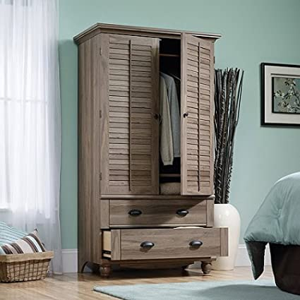 Amazon.com: Salt Oak Wardrobe Armoire Closet Organizer Dresser Wide ...