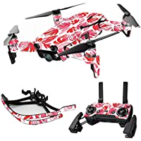 MightySkins Skin for DJI Mavic Air Drone - Red Petals | Max Combo Protective, Durable, and Unique Vinyl Decal wrap cover | Easy To Apply, Remove, and Change Styles | Made in the USA