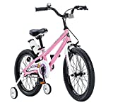 """Y & Y TOY STORE ON LINE ROYAL BABY FREESTYLE 18' PINK GIRLS BIKES WITH STABILIZERS + WATER BOTTLE AND HOLDER. (PINK, 18"""")"""