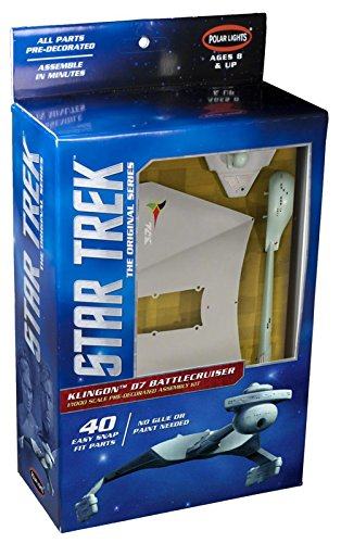 Snap Polar Lights (Polar Lights 1:1000 Scale Klingon D7 Battle Cruiser Snap Kit)