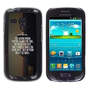 Cubierta protectora del caso de Shell Plástico || Samsung Galaxy S3 MINI NOT REGULAR! I8190 I8190N || Motivational Quote Death @XPTECH