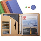 iCarryAlls 3-Ring Binder Portfolio Organizer, Holds Two Transparent L-shape File Holder for 11'' x 8.5'' Document Storage