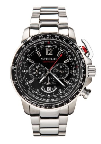 Steelio Men's Überflight Retrograde Chronograph (Midnight Black)