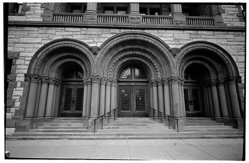 Photo: 6. Detail of main entrance - City Hall,Eagle Street,Albany,Albany - Ny Shopping Albany In