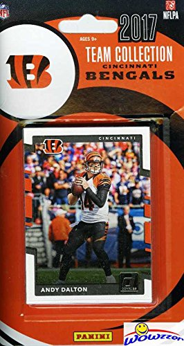 Cincinnati Bengals 2017 Donruss NFL Football Factory Sealed Limited Edition 13 Card Complete Team Set with Andy Dalton, A.J. Green, Legend Boomer Esiason & Many More! Shipped in Bubble Mailer! - Bengals Card