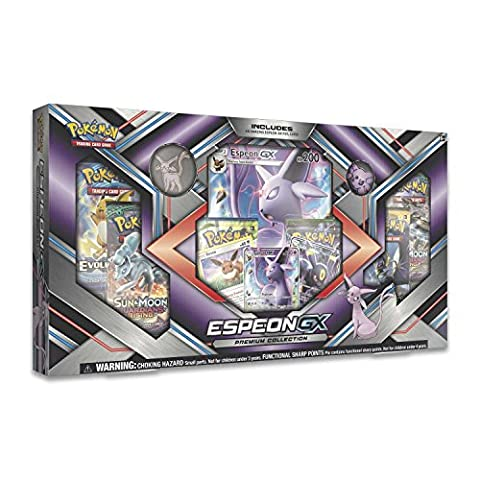 Pokemon TCG: Sun & Moon Guardians Rising Espeon-GX Premium GX Box Featuring A Collector's Pin And - Special Attack Booster Pack