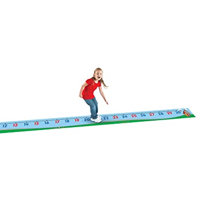 Learning Resources 0-30 Number Line Floor Mat, Blue: Office Products [5Bkhe1403097]