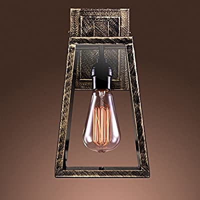 """Whse of Tiffany LD5001 Taylor Wall Light, 7"""" x 7"""" x 13"""" - Additional limited-time savings reflected in current price Dimensions: 7W x 13H inches Industrial-style sconce with Edison bulb - kitchen-dining-room-decor, kitchen-dining-room, chandeliers-lighting - 51cO54RjTZL. SS400  -"""