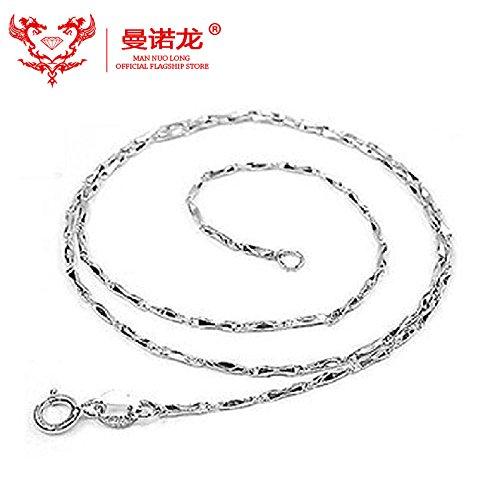 Generic Berserk_ hot 925 sterling silver jewelry sterling silver necklace pendant Korean _version_of_ White gold _ingot_ necklace pendant _with_ pendant necklace fashion Korea ()