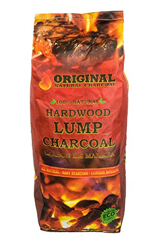 (Original Natural Charcoal - 100% Natural Hardwood Lump Charcoals - Unique Blend of Apple, Cherry, and Oak Trees - No Smoke, No Sparks, and Low Ash (17.6lbs))