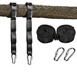 TONGRUI Tree Swing Straps Hanging Kits Set of 2 10ft Adjustable (20 Loops Total) Polyester Two Outdoor Easy Installation for Hang Any Swing Hammock