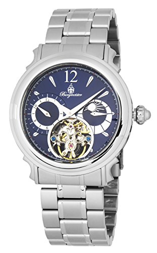 Burgmeister Men's Automatic Stainless Steel Casual Watch, Color:Silver-Toned (Model: BM345-131)