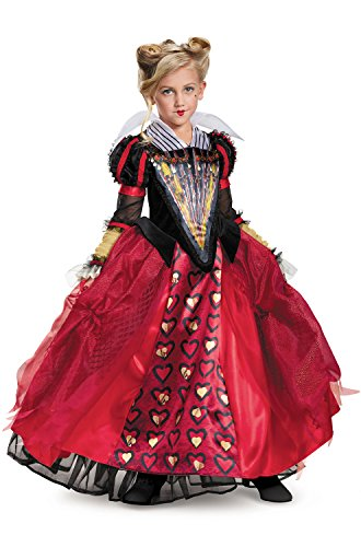 Disguise Red Queen Deluxe Child Costume-Medium (Childrens Queen Of Hearts Costumes)