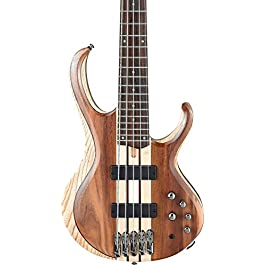 Ibanez BTB745 5-String Electric Bass Guitar Low Gloss Natural