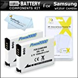 2 Pack Battery Kit For Samsung WF250F 14.2 mp Smart wifi Digital Camera Includes 2 Extended Replacement (1000Mah) SLB-10A Batteries + LCD Screen Protectors + MicroFiber Cleaning Cloth