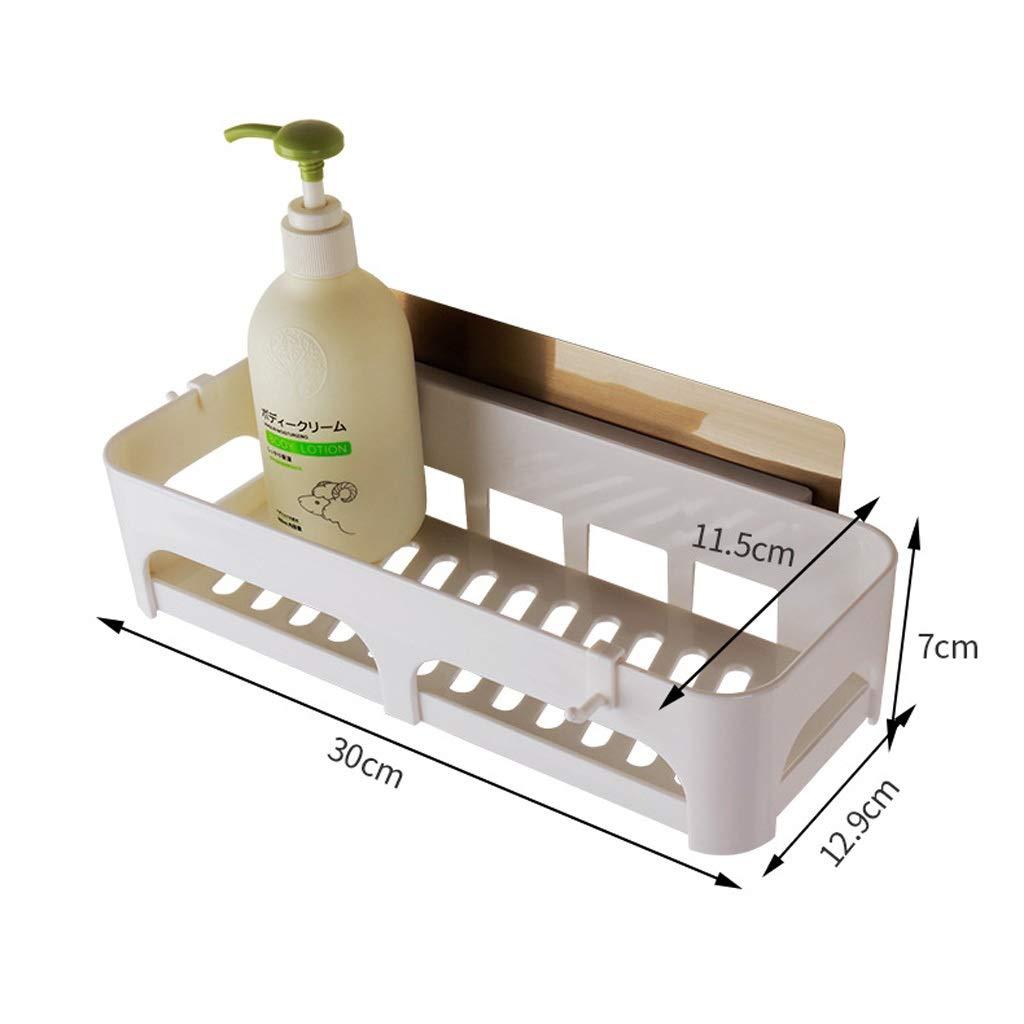 Pack-2 Chuanmao Mensola da Bagno Appendiabiti a Parete a Sospensione Caddy per Bagno Cucina Organizzatore di stoccaggio Scolapiatti Cestello Senza Foratura
