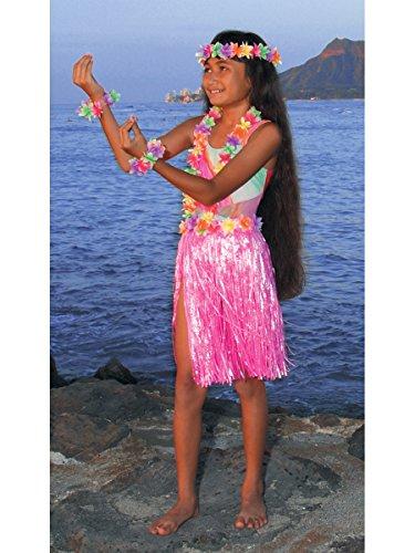Aloha Set Child Teen Costumes (Child Hula Set (Pink))
