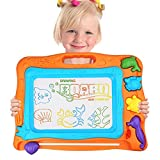 Magnetic Drawing Board, Kids Colorful Magna Doodle Erasable With 3 Stamps and 1 Pen